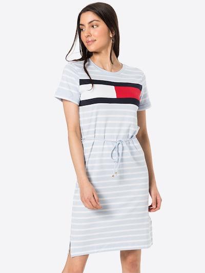 TOMMY HILFIGER Kleid 'ABO' in navy / opal / rot / weiß, Modelansicht