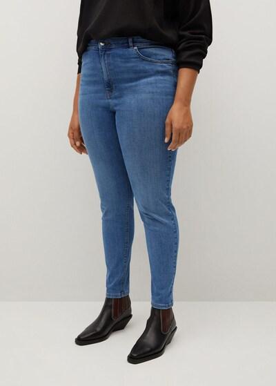 VIOLETA by Mango Jeans in blue denim, Modelansicht