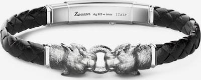 Zancan Armband in schwarz / silber, Produktansicht