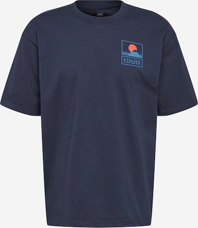 EDWIN Тениска 'Sunset On' в нейви синьо, Преглед на продукта