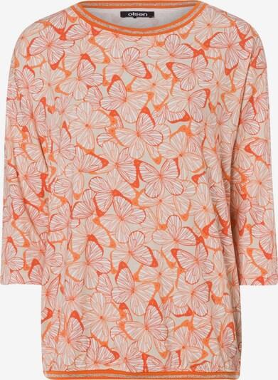 Olsen Shirt in hellorange / dunkelorange, Produktansicht