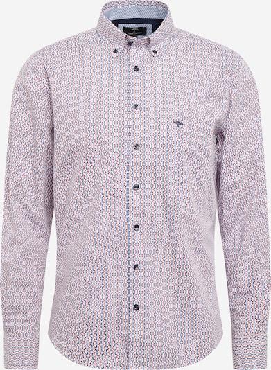 Camicia business FYNCH-HATTON di colore blu reale / rosso pastello / bianco, Visualizzazione prodotti