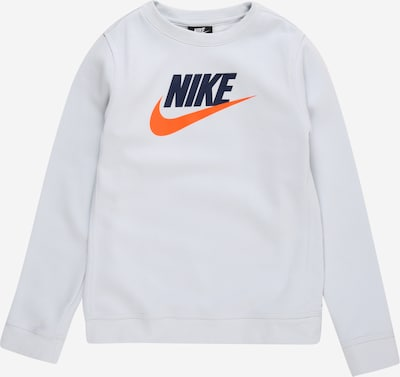 Nike Sportswear Sweatshirt 'CLUB FUTURA' in navy / grau / orange, Produktansicht