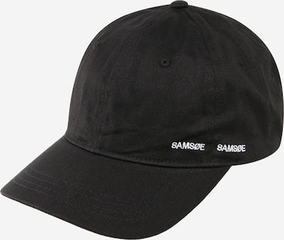 Samsoe Samsoe Casquette 'Aribo' en noir, Vue avec produit