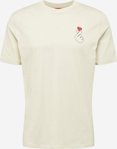 HUGO Koszulka 'Dunagi' w kolorze czerwony / czarny / naturalna bielm, Podgląd produktu