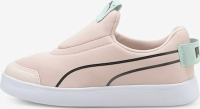 PUMA Sneaker 'Courtflex v2' in dunkelgrau / pastellgrün / rosa, Produktansicht