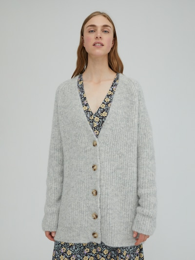 EDITED Knit Cardigan 'Eliandro' in Grey / mottled grey, View model