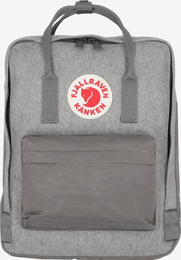 Fjällräven Rucksack in grau / rot / weiß, Produktansicht