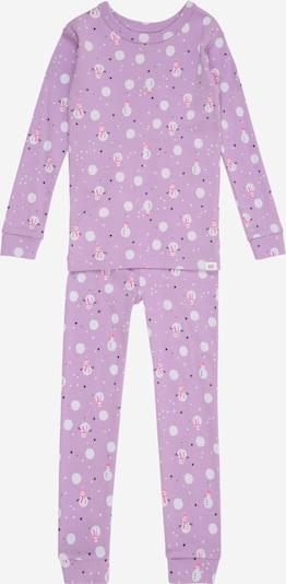 GAP Piżama 'SNOWMEN' w kolorze jasnofioletowy / różowy / białym, Podgląd produktu