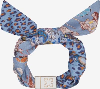 CODELLO Armband aus reiner Seide mit dekorativer Schleife in hellblau, Produktansicht