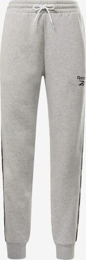 Reebok Sport Pantalón deportivo en gris claro / negro, Vista del producto