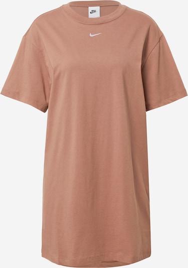 Nike Sportswear Sportska haljina u smeđa / bijela, Pregled proizvoda