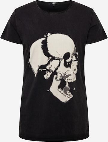 tigha T-Shirt 'Loose your head Wren' in Schwarz