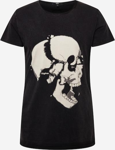 Tricou 'Loose your head Wren' tigha pe bej / gri / negru, Vizualizare produs