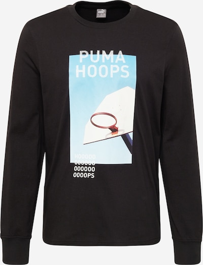 PUMA Sportshirt 'Timeout' in himmelblau / rot / schwarz / weiß, Produktansicht