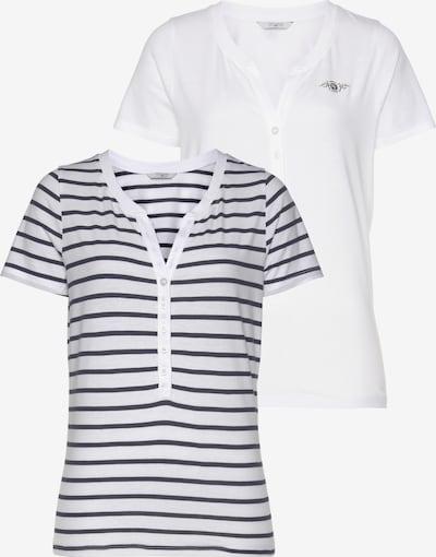 Tom Tailor Polo Team Shirt in blau / weiß, Produktansicht
