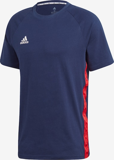 ADIDAS PERFORMANCE Funktionsshirt in navy / rot / weiß, Produktansicht