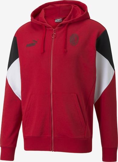 PUMA Sportsweatjacke in rot / schwarz / weiß, Produktansicht