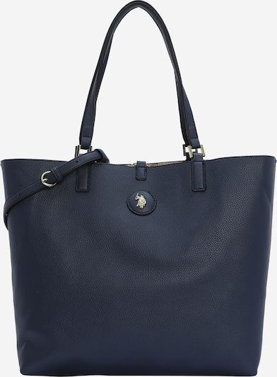 U.S. POLO ASSN. Nakupovalna torba 'Malibu' | kremna / temno bež / mornarska barva, Prikaz izdelka