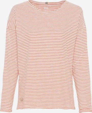 CAMEL ACTIVE Langarmshirt aus Organic Cotton in Orange