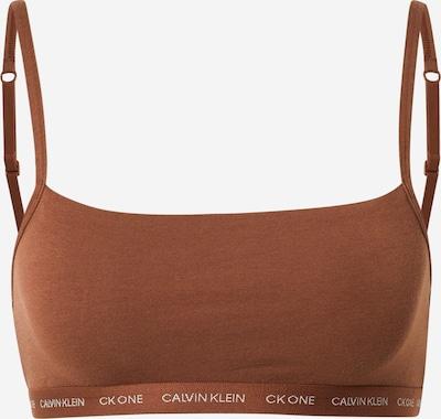 Calvin Klein Underwear Soutien-gorge en marron / blanc, Vue avec produit