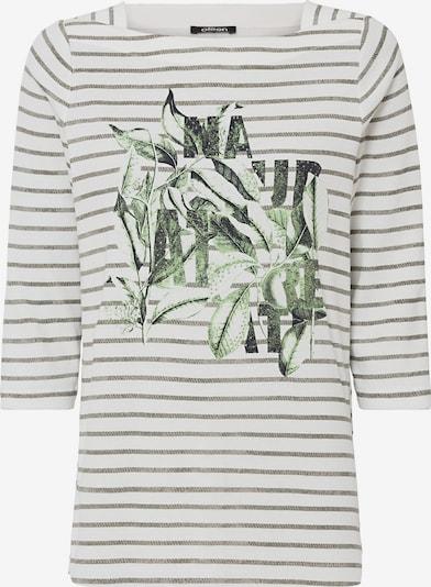 Olsen Shirt 'Hannah' in dunkelgrün / schwarz / weiß, Produktansicht