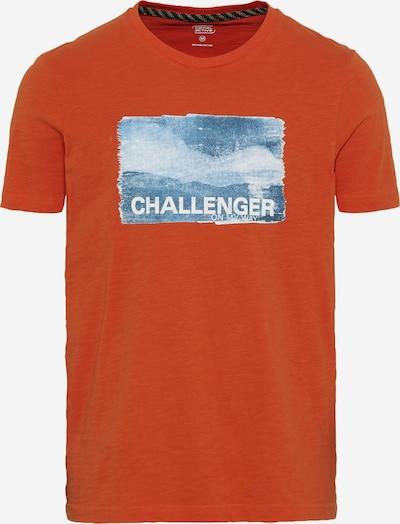 CAMEL ACTIVE T-Shirt in blaumeliert / dunkelorange / weißmeliert, Produktansicht
