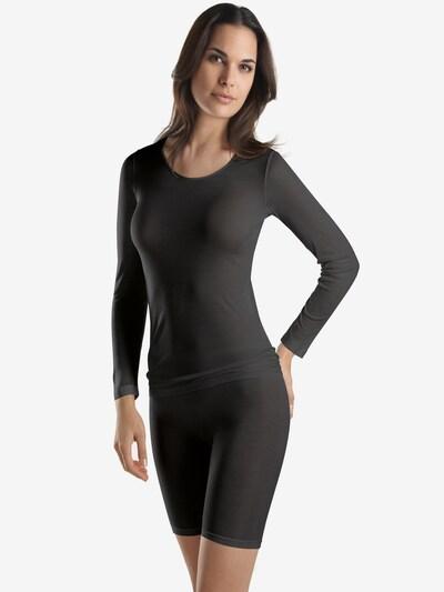 Hanro Onderhemd ' Pure Silk ' in de kleur Zwart: Vooraanzicht