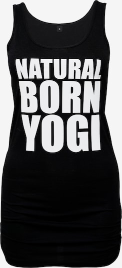Natural Born Yogi Sporttop 'Natural Born Yogi' in schwarz / weiß, Produktansicht