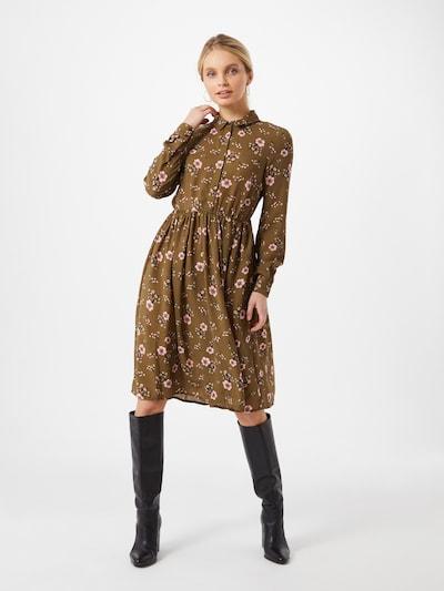 VERO MODA Blusenkleid in oliv / puder, Modelansicht