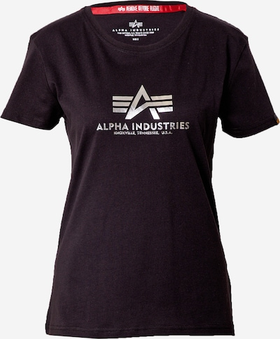 ALPHA INDUSTRIES Тениска в черно / сребърно, Преглед на продукта