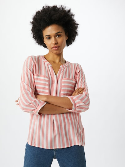 TOM TAILOR Blouse in peach / white, View model