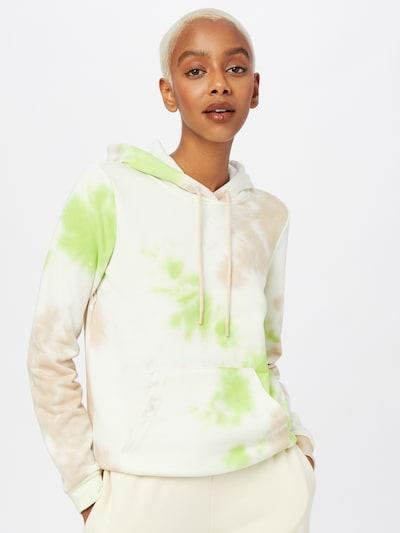 ONLY PLAY Sportsweatshirt 'MANU' in hellbeige / hellgrün / puder: Frontalansicht
