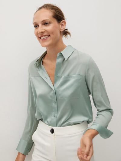 Bluză 'Bima' MANGO pe verde pastel, Vizualizare model