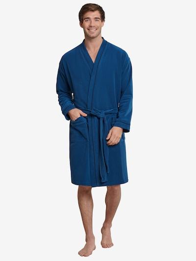 SCHIESSER Badjas lang  ' Relax ' in de kleur Blauw, Modelweergave