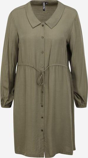 Pieces Petite Skjortklänning 'FRAYSON' i grön, Produktvy