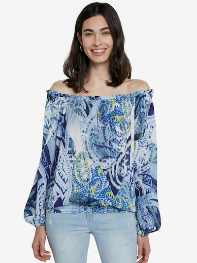 Desigual Bluse 'SHEILA' in beige / himmelblau / hellblau / dunkelblau / schilf, Modelansicht