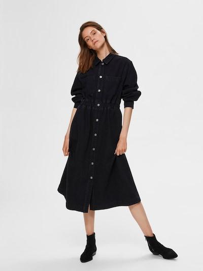 SELECTED FEMME Blusenkleid in schwarz, Modelansicht