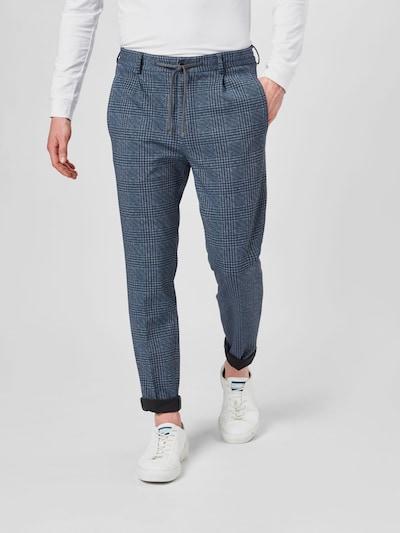 JOOP! Pantalon à pince 'Eames' en bleu foncé / blanc, Vue avec modèle