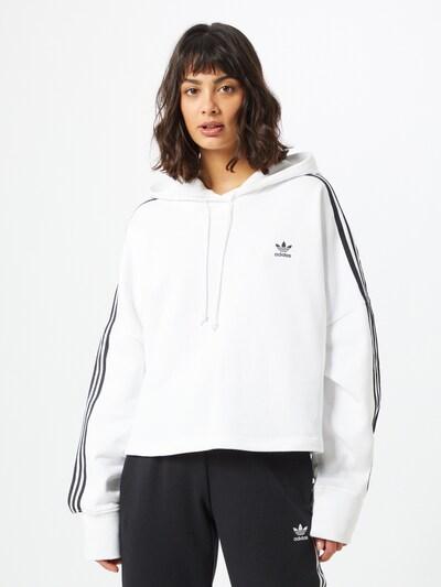 ADIDAS ORIGINALS Sweatshirt in de kleur Zwart / Wit, Modelweergave