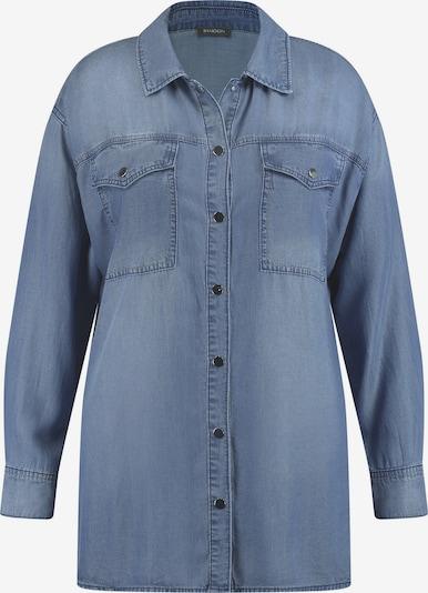 SAMOON Bluse in blue denim, Produktansicht