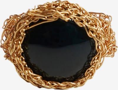 MANGO Ring 'Lelo' in gold / schwarz, Produktansicht