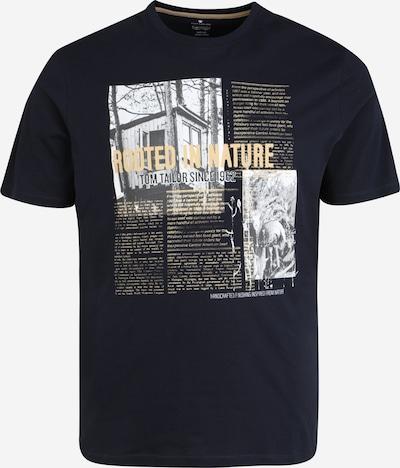 TOM TAILOR Men + T-Shirt in navy / gelb / grau / weiß, Produktansicht