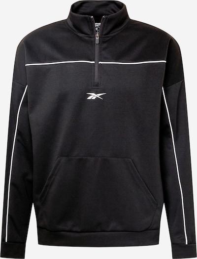 Reebok Sport Športová mikina - čierna / biela, Produkt