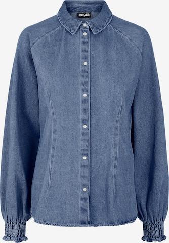 PIECES Μπλούζα 'Eya' σε μπλε