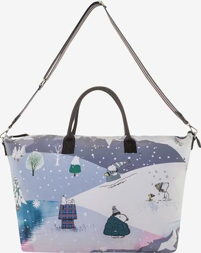 """""""Weekender"""" krepšys 'PEANUTS' iš CODELLO , spalva - šviesiai mėlyna / pilka / purpurinė / balta, Prekių apžvalga"""
