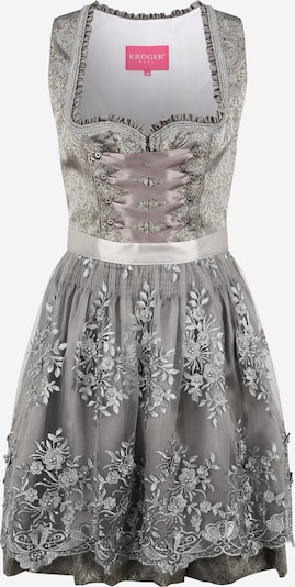 Krüger Madl Dirndl in grey / khaki / silver, Item view