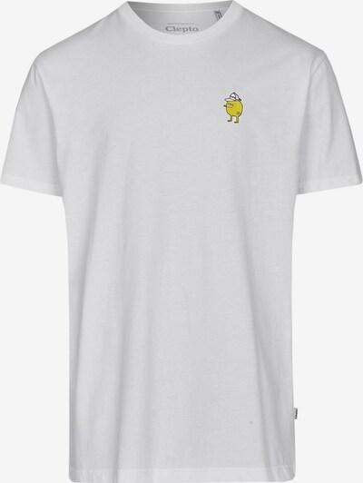 Cleptomanicx T-Shirt Zitrone im klassischen Design in weiß, Produktansicht