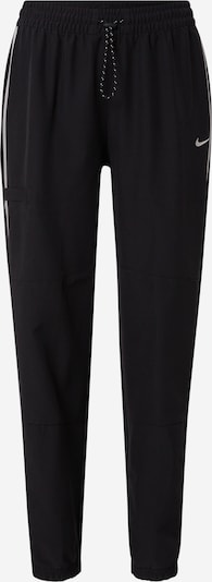 NIKE Sports trousers in Black / Silver, Item view