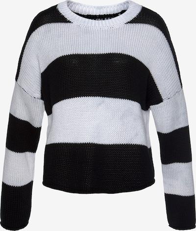 LASCANA Pullover in schwarz / weiß, Produktansicht